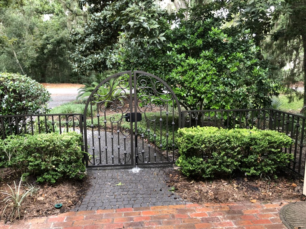 Custom Aluminum Scroll Walk Gates